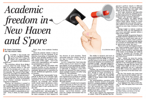 Academic Freedom in New Haven and Singapore