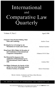 Last Rights: Euthanasia, the Sanctity of Life, and the Law in the Netherlands and the Northern Territory of Australia